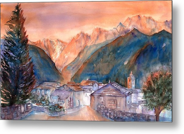 Late Fall In The Mountains No. 2 Metal Print