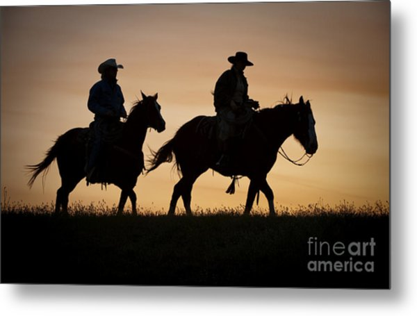 Late For Supper Metal Print