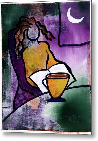 Late Night With Java Lady Metal Print