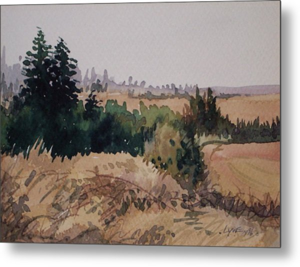 Late Summer Fields Cheney Wa Metal Print