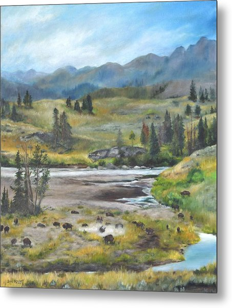Late Summer In Yellowstone Metal Print