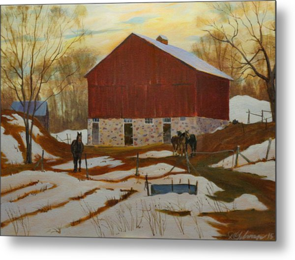 Late Winter At The Farm Metal Print