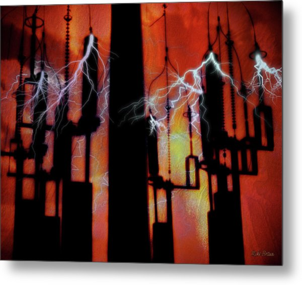 Latent Voltage Metal Print