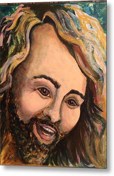 Laughing Jesus Metal Print