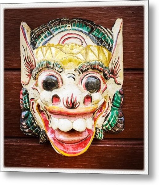 Laughing Mask Metal Print