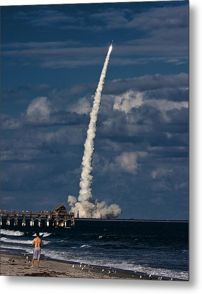 Launch View Metal Print