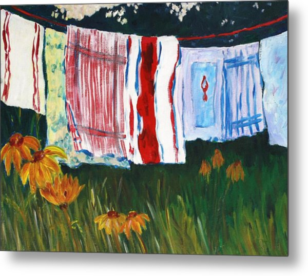 Laundry Day At Le Vieux Metal Print