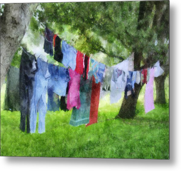 Laundry Line Metal Print