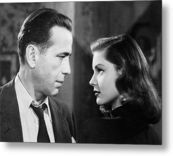 Lauren Bacall Humphrey Bogart Film Noir Classic The Big Sleep 2 1945-2015 Metal Print