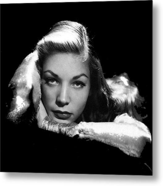 Lauren Bacall Publicity Photo Circa 1945-2015 Metal Print