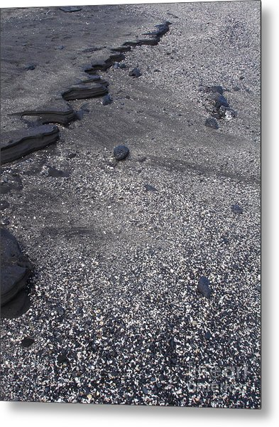 Lava And Shell Metal Print by Chad Natti