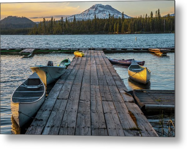 Lava Lake Evening  Metal Print