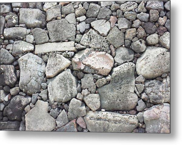 Lava Rock Wall 3 Metal Print