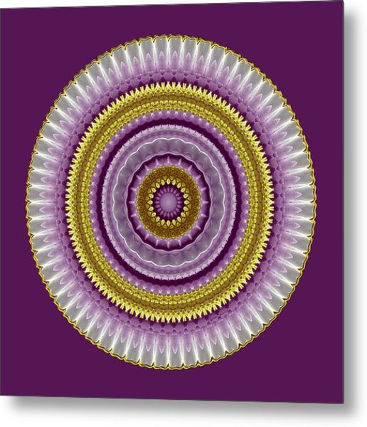 Metal Print featuring the digital art Lavender And Gold Lace by Lynde Young