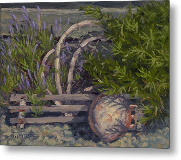 Lavender And Lobster Metal Print