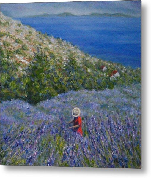 Lavender In Full  Bloom Metal Print by Mirjana Gotovac
