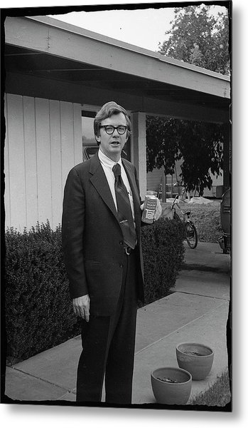 Lawyer With Can Of Tab, 1971 Metal Print