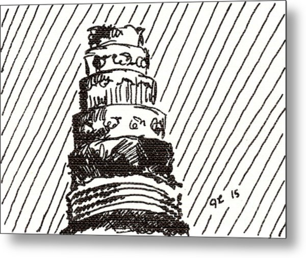 Layer Cake 1 2015 - Aceo Metal Print