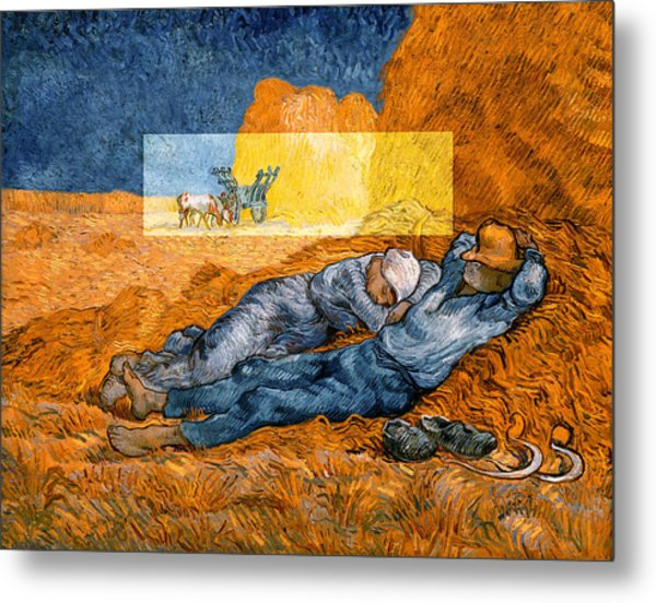 Layered 14 Van Gogh Metal Print