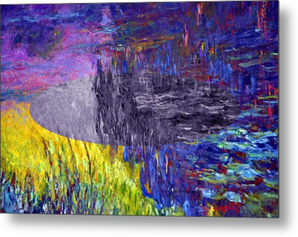 Layered 17 Monet Metal Print