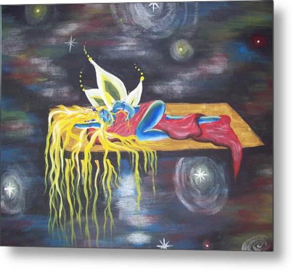 Laying  In Space Metal Print by Hollie Leffel