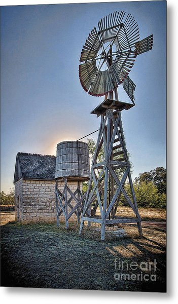 Lbj Homestead Windmill Metal Print