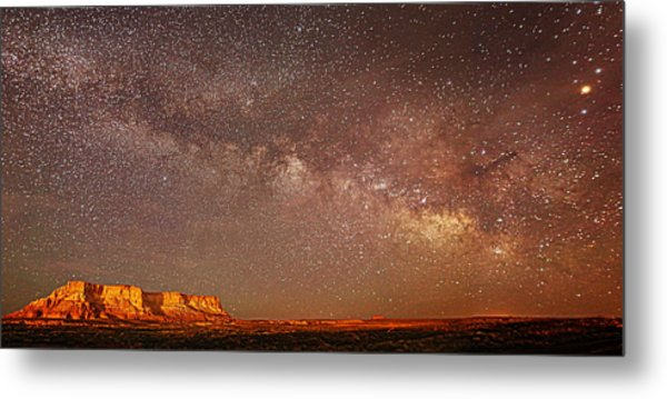 Lchee Rock Milky Way Panorama Metal Print