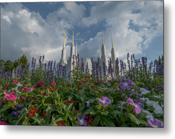 Lds Garden Flowers Metal Print