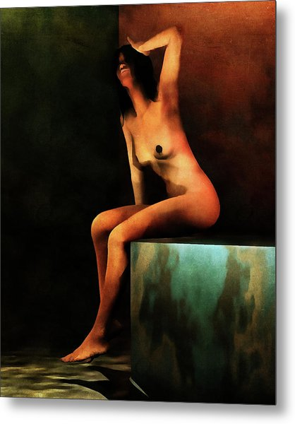 Metal Print featuring the painting Le Bain Du Matin by Jan Keteleer