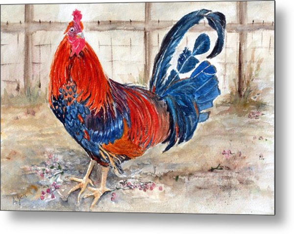 Le Chantecler- King Of The Roost Metal Print