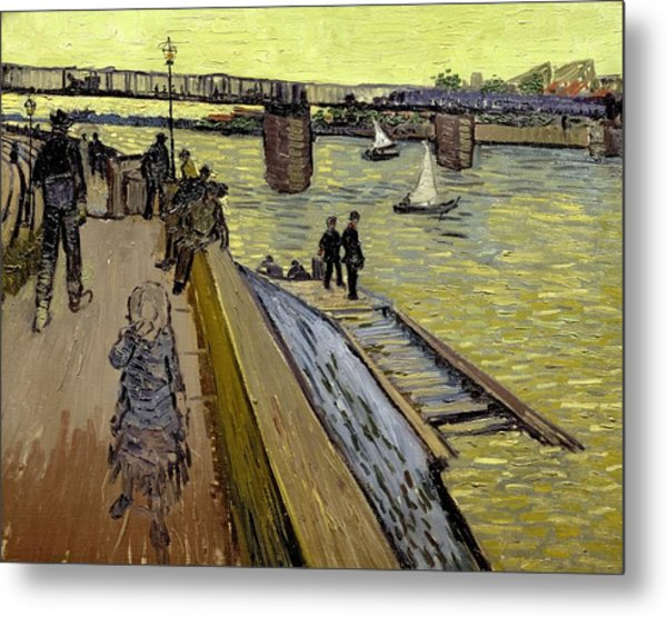 Le Pont De Trinquetaille In Arles Metal Print