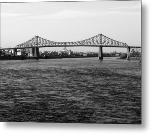 Le Pont Jacques Cartier Metal Print