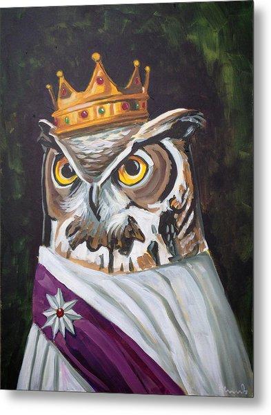 Le Royal Owl Metal Print