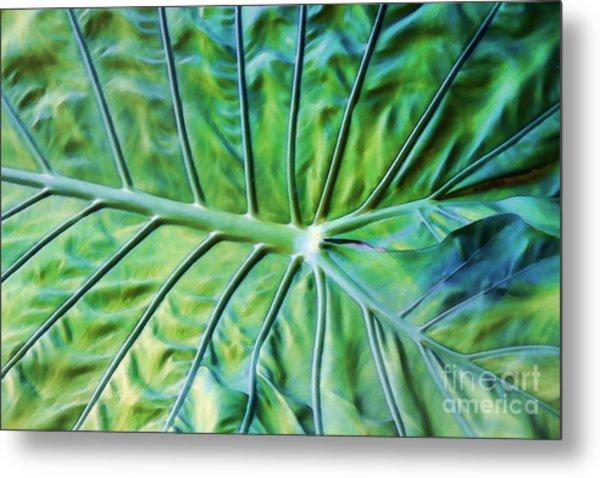 Leaf Pattern Metal Print