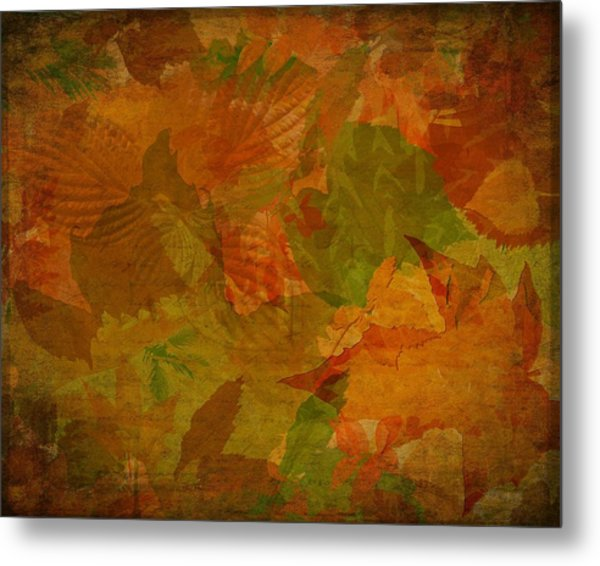 Leaf Texture And Background Metal Print