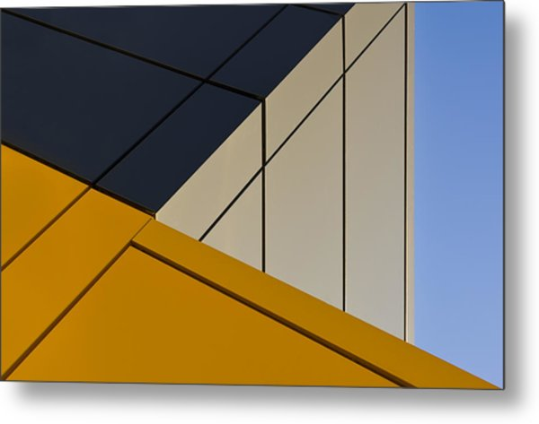 Leaning Against The Blue Sky Metal Print