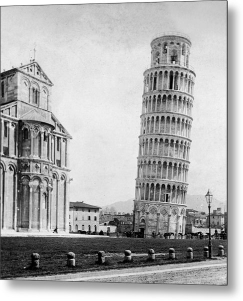 Leaning Tower Of Pisa Italy - C 1902  Metal Print