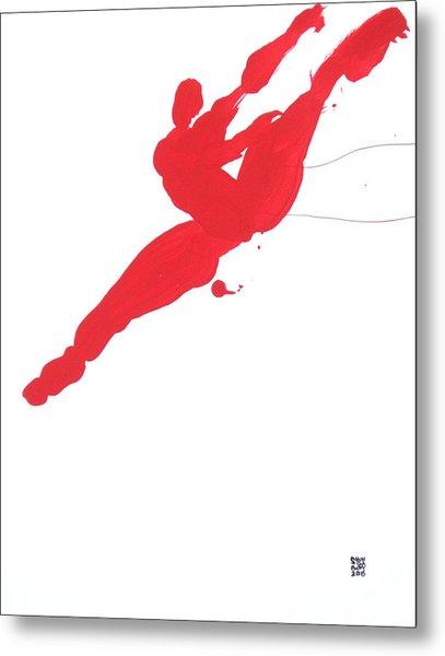 Leap Brush Red 3 Metal Print