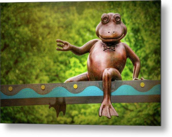 Leaping Frog In Boston  Metal Print by Carol Japp