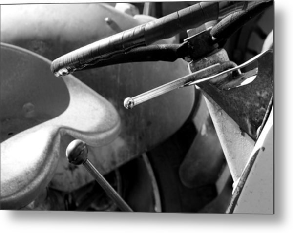 Learning Tractor Metal Print