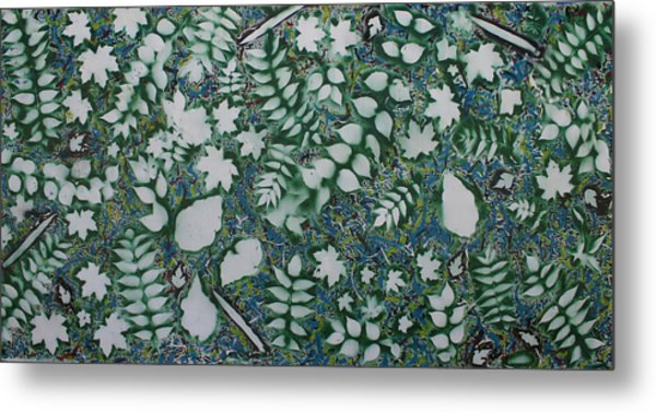 Leaves And Knives Metal Print by Biagio Civale