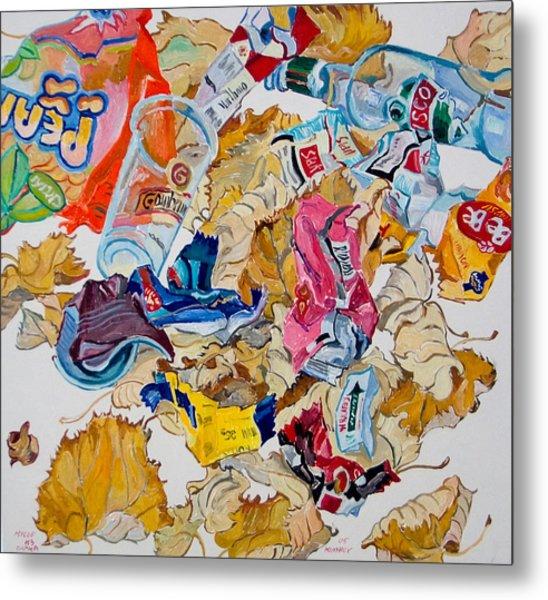 Leaves And Rubbish Metal Print by Vitali Komarov