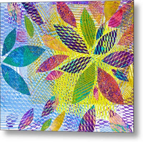 Leaves In Dappled Light Metal Print