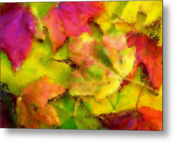 Leaves Of Fall Metal Print by Harry Dusenberg