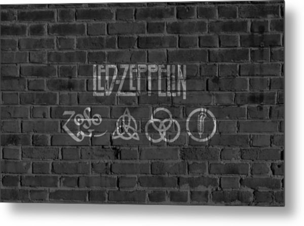 Led Zeppelin Brick Wall Metal Print