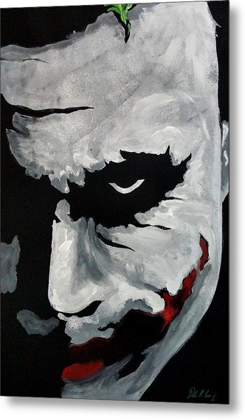 Metal Print featuring the painting Ledger's Joker by Dale Loos Jr