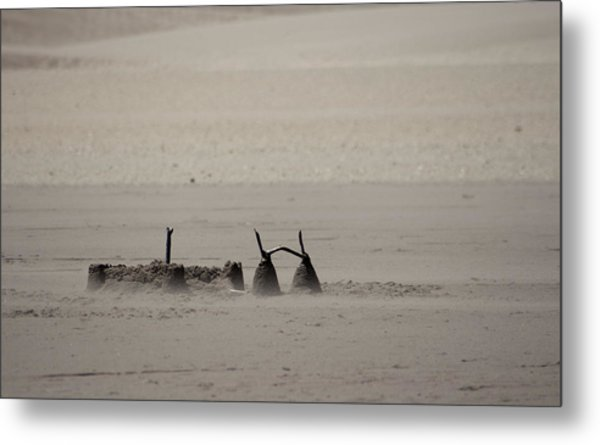 Left Abandonded Metal Print by Kandie  Kingery