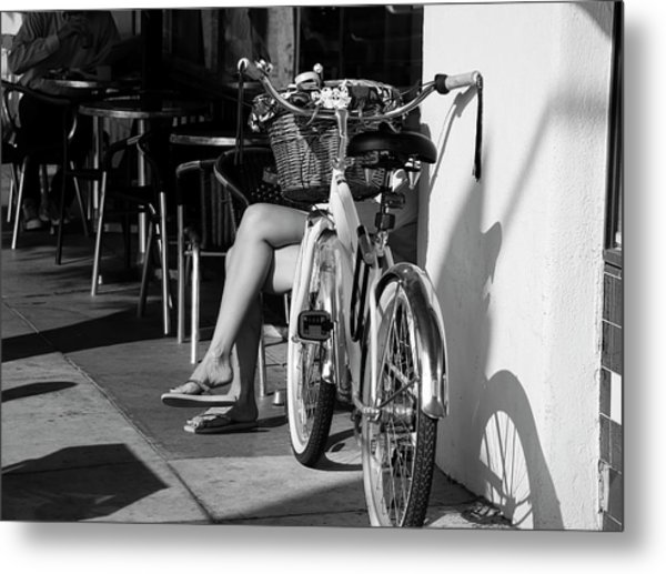 Leg Power - B And W Metal Print