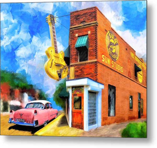 Legendary Sun Studio Metal Print