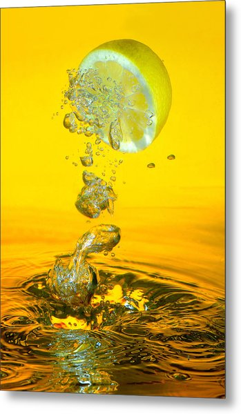 Lemon And Bubbles Metal Print by Travel Images Worldwide